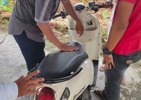 Motor Hilang Saat Sholat Idul Fitri, Ditemukan Timsus Polresta Banjarmasin Dan Polsek Banjarmasin Utara