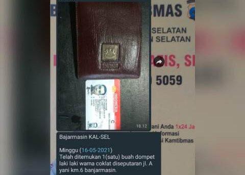 Dompet Hilang Dan Ditemukan, Salmannor : Terima Kasih Pak Polisi