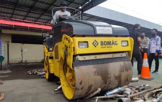 Digilas Stum, Knalpot Brong Dimusnahkan Polresta Banjarmasin