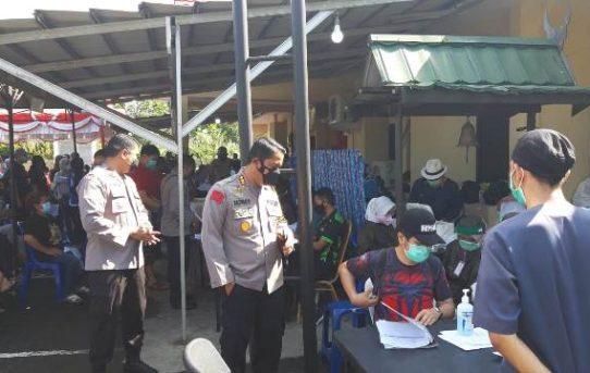 Vaksinasi Tahap Dua Digelar di Polsek Banjarmasin Tengah, 317 Warga Disuntik Vaksin Covid-19
