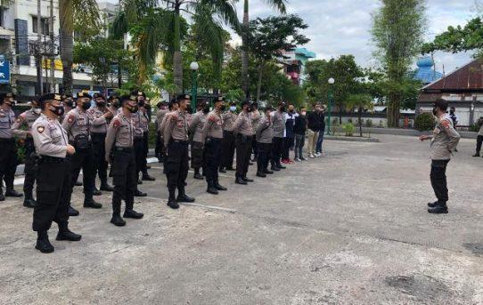 Polresta Banjarmasin Hadirkan Ratusan Personel, Kawal Rapat Pleno Terbuka PSU Pilgub Kalsel