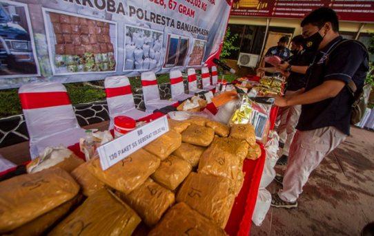 Polresta Banjarmasin Catat Rekor Baru Ungkap Kasus Narkoba, 135,02 Kg Sabu Berhasil Gagalkan
