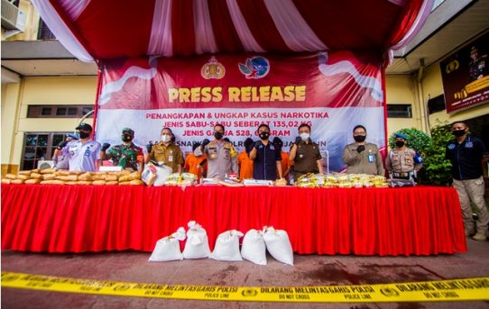 Galeri Foto Press Release Ungkap Kasus  Narkotika Polresta Banjarmasin