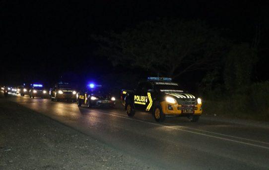 Malam Jelang Pilgub Kalsel, Forkopimda Kota Banjarmasin Gelar Patroli Bersama