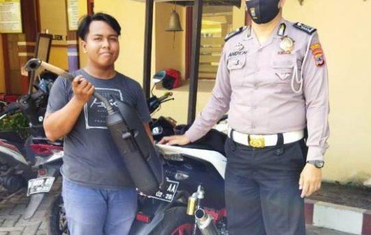 Unit Lantas Polsek Bansel, Tindak Pengguna Knalpot Brong Dan Wajib Copot