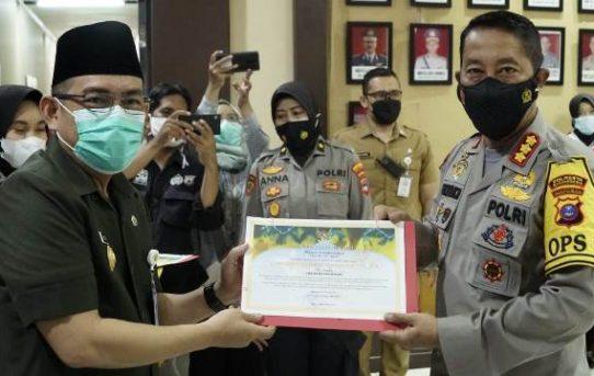 Ungkap Kasus Besar Narkoba, Polresta Banjarmasin Terima Penghargaan Dari Pemko