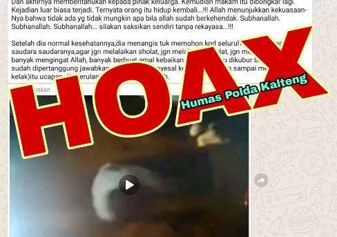 Video Lama Beredar, Bangun Dari Kubur Itu Hoax