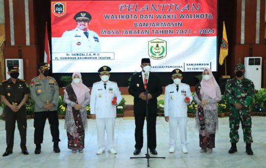 Kapolresta Banjarmasin Hadiri Pelantikan Walikota Dan Wakil Walikota Terpilih