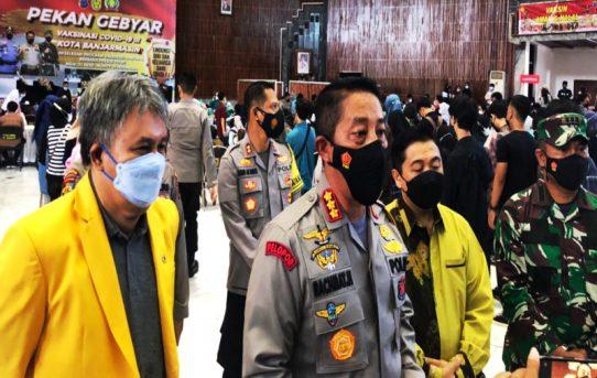 Kapolresta Banjarmasin Apresiasi Antusias Masyarakat Ikuti Program 1 juta Vaksin