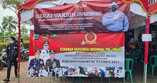 Gerai Vaksinasi Presisi, Kapolsek KPL Banjarmasin Apresiasi Antusias Masyarakat