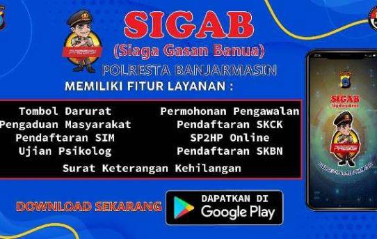 "Sekilas Tentang Aplikasi ""SIGAB"" Polresta Banjarmasin"