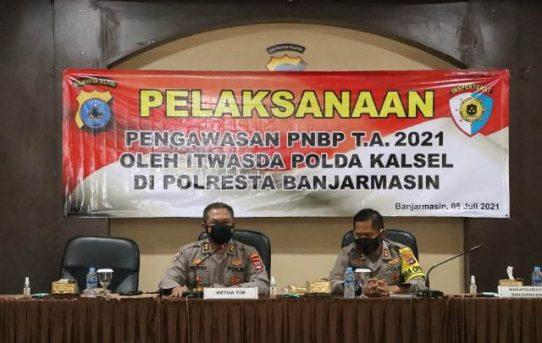 Tim Audit Pelaksanaan PNBP Itwasda Polda Kalsel Lakukan Pemeriksaan Di Polresta Banjarmasin