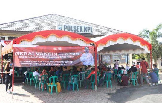 Gerai Vaksinasi Presisi Di Mapolsek KPL Banjarmasin Vaksin 134 Orang