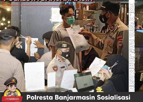 Resmi Terapkan PPKM Level IV, Polresta Banjarmasin Sosialisasi Surat Edaran Walikota