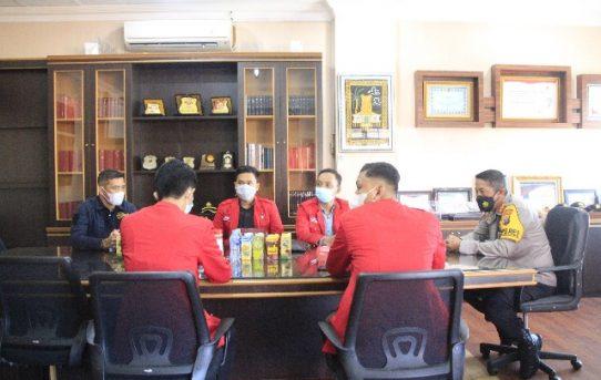 Kapolresta Ajak GMNI Sukseskan PPKM Level IV Di Banjarmasin