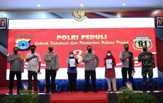 30 Tahun Mengabdi, Alumni Akpol 91 Di Polda Kalsel Gelar Vaksinasi Dan Bakti Sosial Untuk Masyarakat