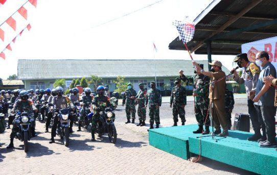 Sinergitas TNI-Polri Di Banjarmasin Salurkan Bantuan Sembako Ke Masyarakat Terdampak Covid-19