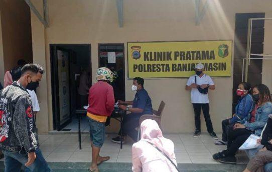 Gerai Vaksinasi Presisi Tahap II Di Klinik Pratama Polresta Banjarmasin Lampui Target