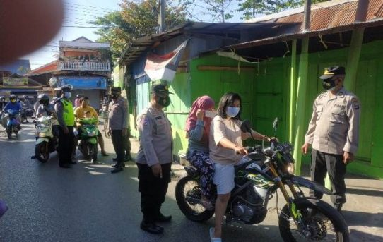 Operasi Yustisi PPKM Level IV Di Banjarmasin, Personel Gabungan Tindak 174 Pelanggar Prokes