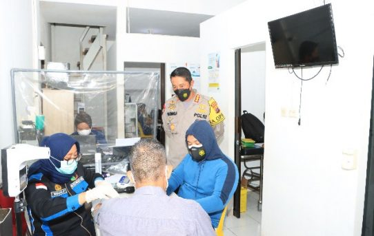 Penyaluran Vaksinasi Di Klinik Terus Berlanjut, Ini Pesan Kapolresta Banjarmasin