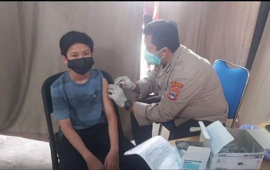 Vaksinasi Merdeka Intan 2021 Polresta Banjarmasin, Diserbu Warga