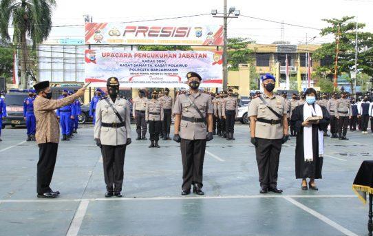 Kapolresta Banjarmasin Kukuhkan 3 Pejabat Utama