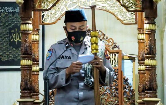 Khutbah Jum'at Aipda Jaya, Ingatkan Covid-19 Itu Ada