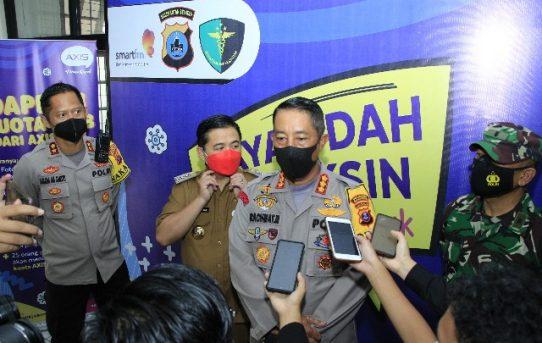 Vaksinasi Merdeka Di Banjarmasin, Kapolresta : Targetkan 1000 Peserta