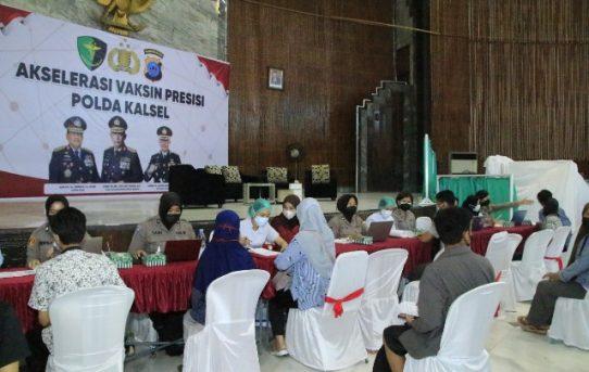 Akselerasi Vaksin Presisi Polda Kalsel, Ribuan Jiwa Di Banjarmasin Tervaksin Hari Selasa