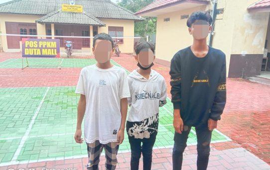 Gerak Cepat Polsek Banjarmasin Tengah Amankan Tiga Remaja Diduga Ikut Tawuran Di Siring Bekantan