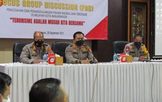 Bersama Divisi Humas Polri, Polresta Banjarmasin Gelar Fokus Group Discussion Penanggulangan Paham Radikal Dan Terorisme