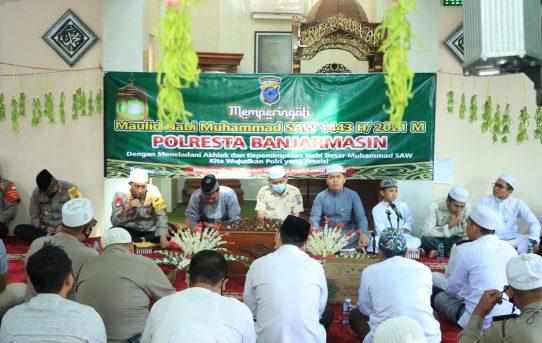 Polresta Banjarmasin Gelar Peringatan Maulid Nabi Muhammad SAW 1443 H