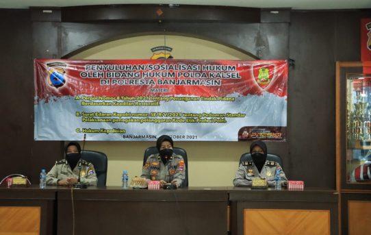 Bidkum Polda Kalsel Gelar Penyuluhan Hukum di Polresta Banjarmasin